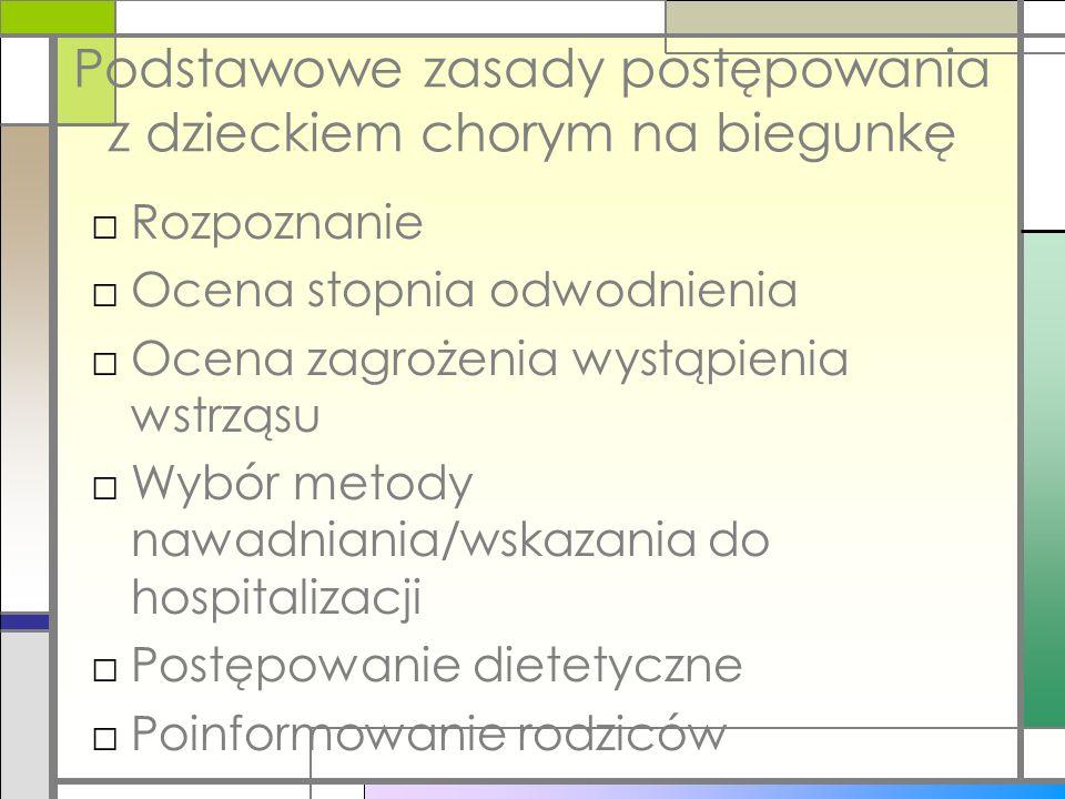 Podstawowe zasady postępowania z dzieckiem chorym na biegunkę