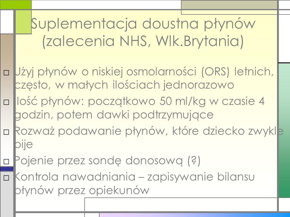 Suplementacja doustna płynów (zalecenia NHS, Wlk.Brytania)