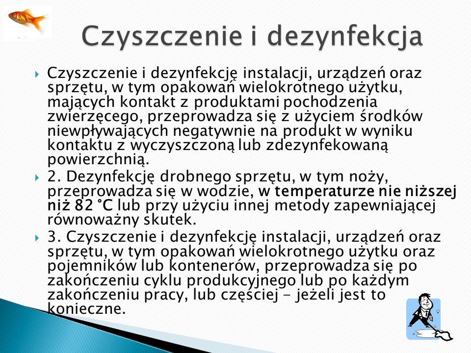 Czyszczenie i dezynfekcja