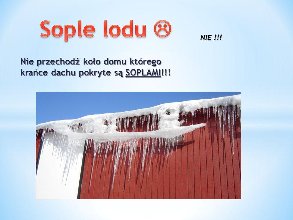 Nie przechodź koło domu którego krańce dachu pokryte są SOPLAMI!!!