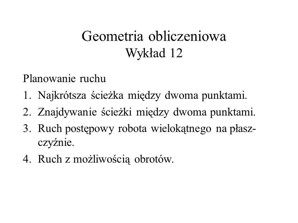 Geometria obliczeniowa Wykład 12