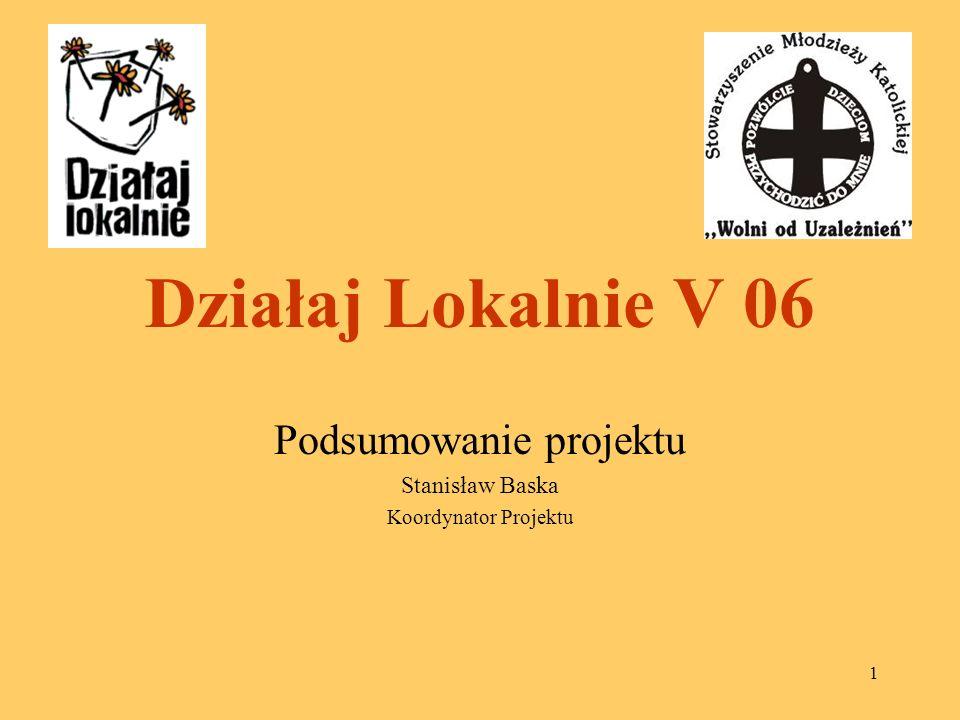 Podsumowanie projektu Stanisław Baska Koordynator Projektu