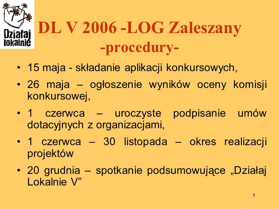 DL V 2006 -LOG Zaleszany -procedury-