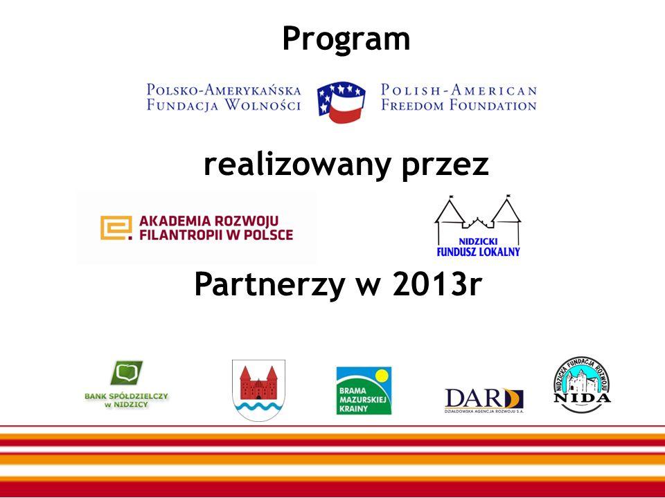 Program realizowany przez Partnerzy w 2013r