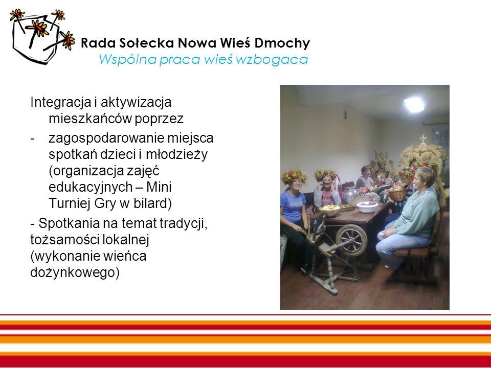Rada Sołecka Nowa Wieś Dmochy Wspólna praca wieś wzbogaca