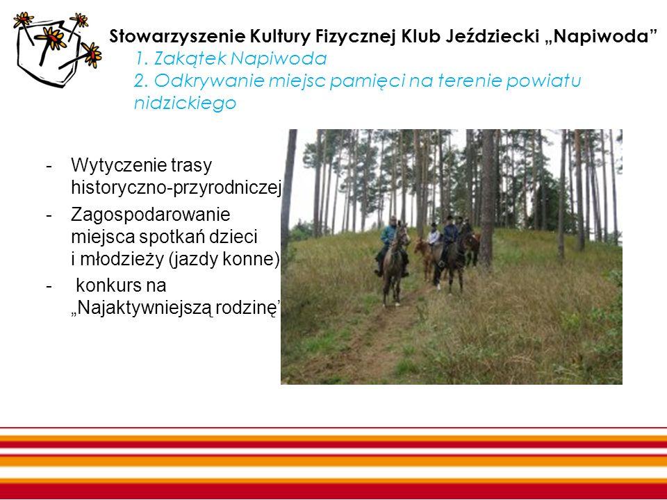"""Stowarzyszenie Kultury Fizycznej Klub Jeździecki """"Napiwoda 1"""