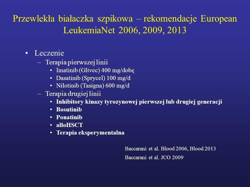 Przewlekła białaczka szpikowa – rekomendacje European LeukemiaNet 2006, 2009, 2013