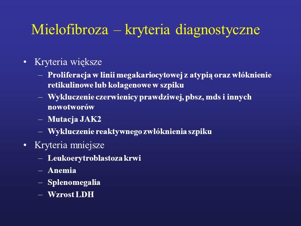 Mielofibroza – kryteria diagnostyczne