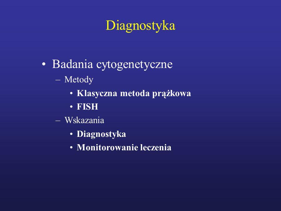 Diagnostyka Badania cytogenetyczne Metody Klasyczna metoda prążkowa