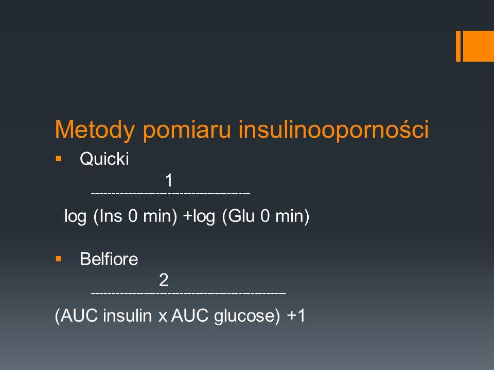 Metody pomiaru insulinooporności