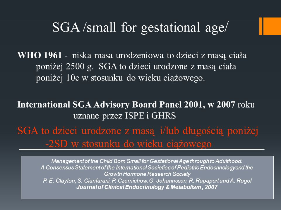 SGA /small for gestational age/