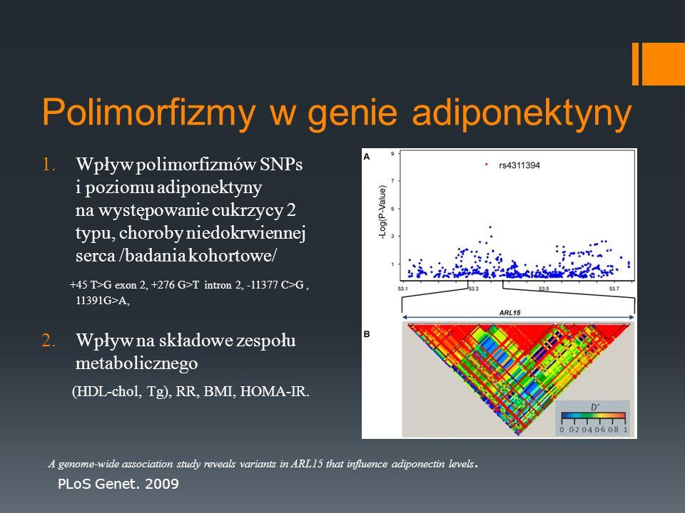 Polimorfizmy w genie adiponektyny