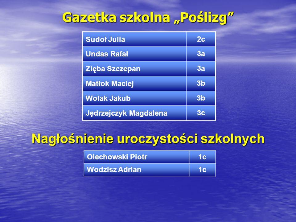 """Gazetka szkolna """"Poślizg"""