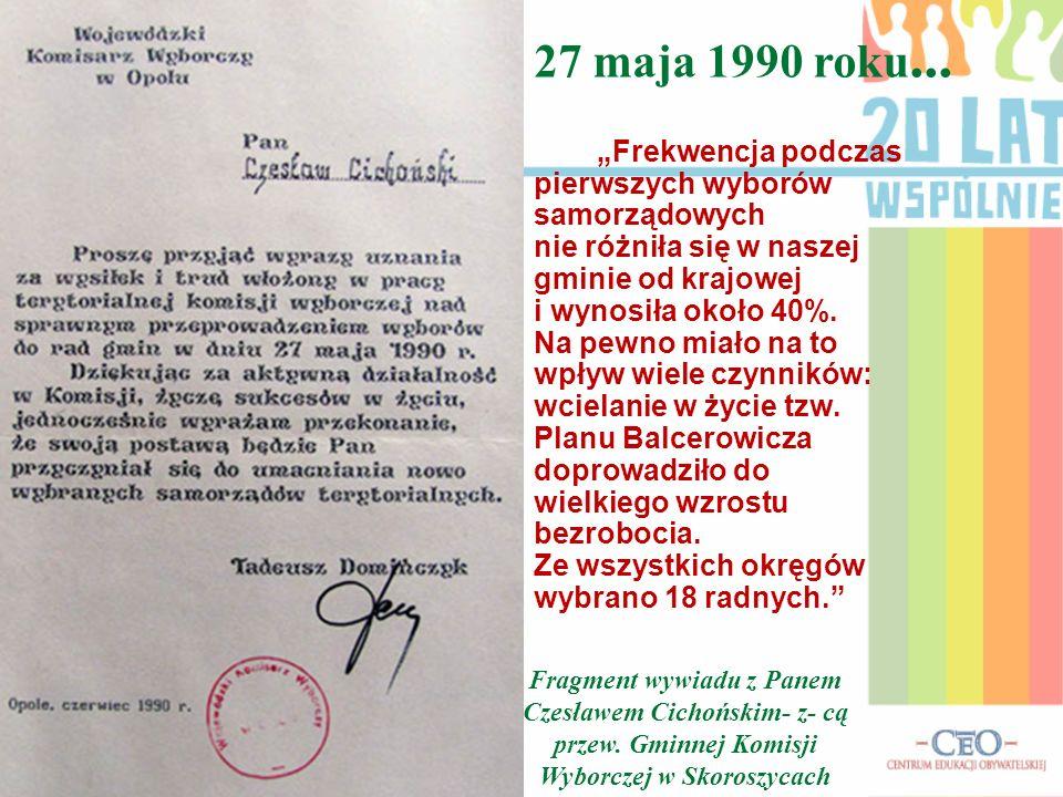 27 maja 1990 roku...