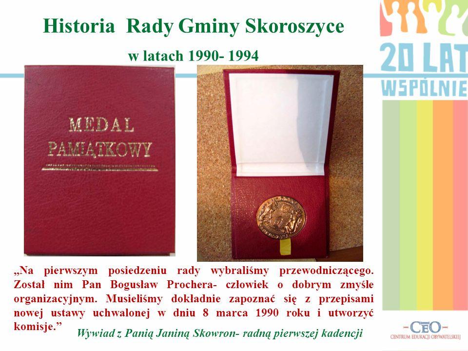 Historia Rady Gminy Skoroszyce w latach 1990- 1994