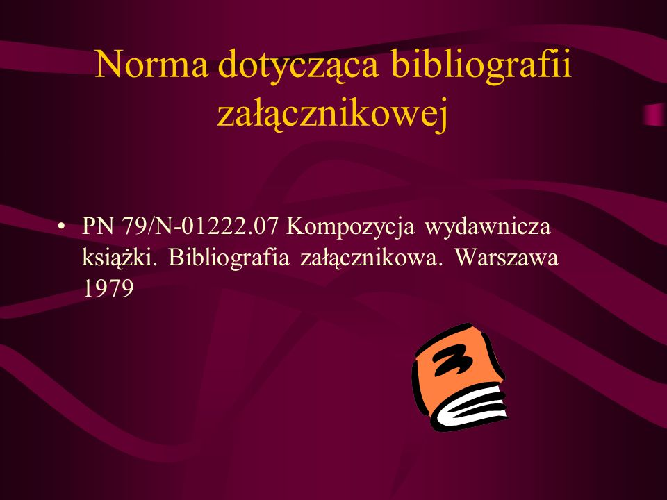 Norma dotycząca bibliografii załącznikowej
