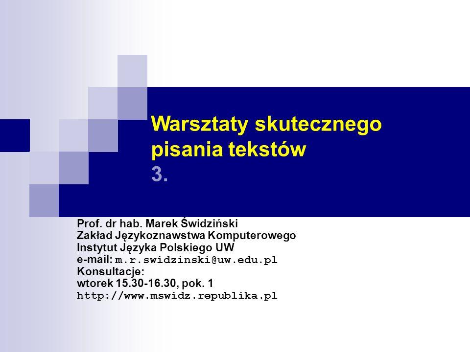 Warsztaty skutecznego pisania tekstów 3.