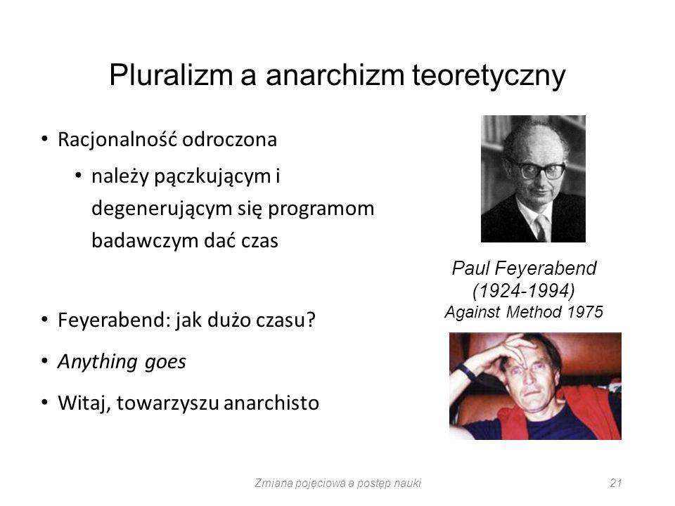 Pluralizm a anarchizm teoretyczny