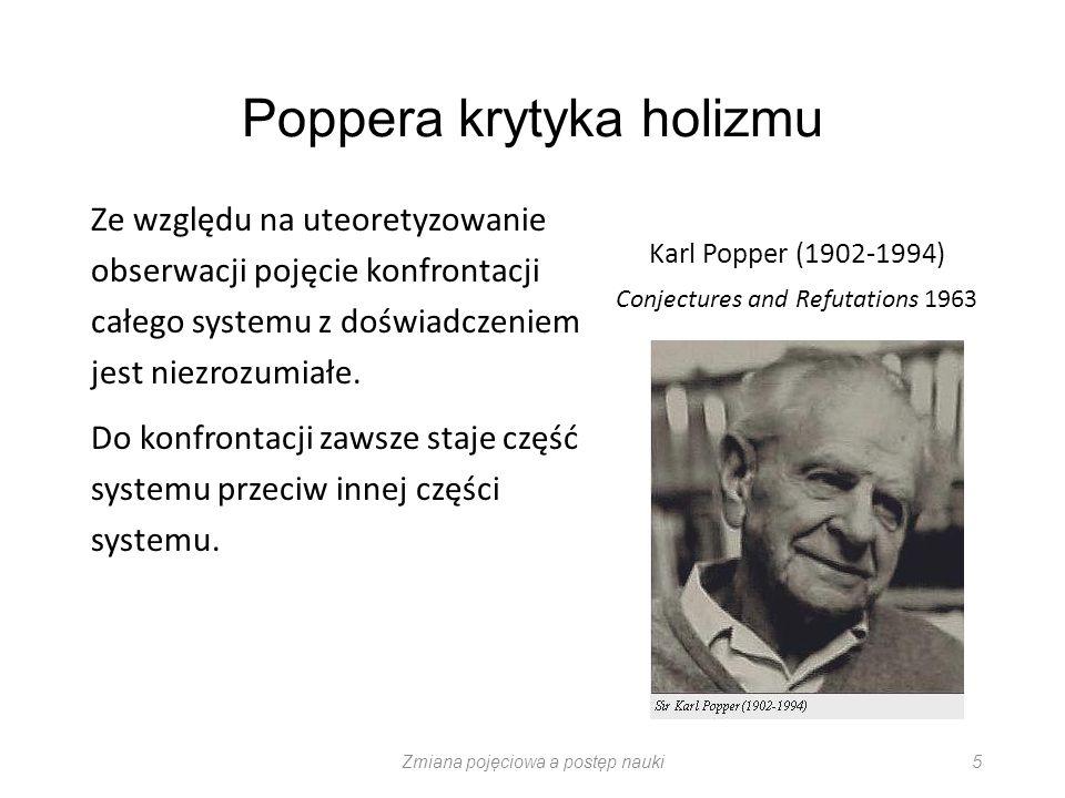 Poppera krytyka holizmu