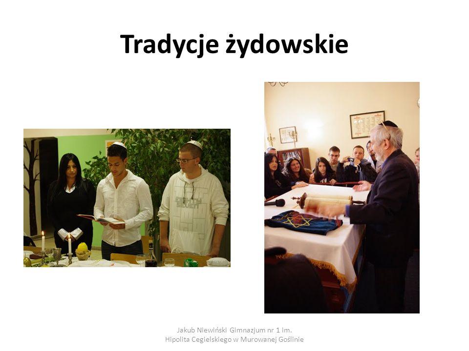 Tradycje żydowskie Jakub Niewiński Gimnazjum nr 1 im. Hipolita Cegielskiego w Murowanej Goślinie