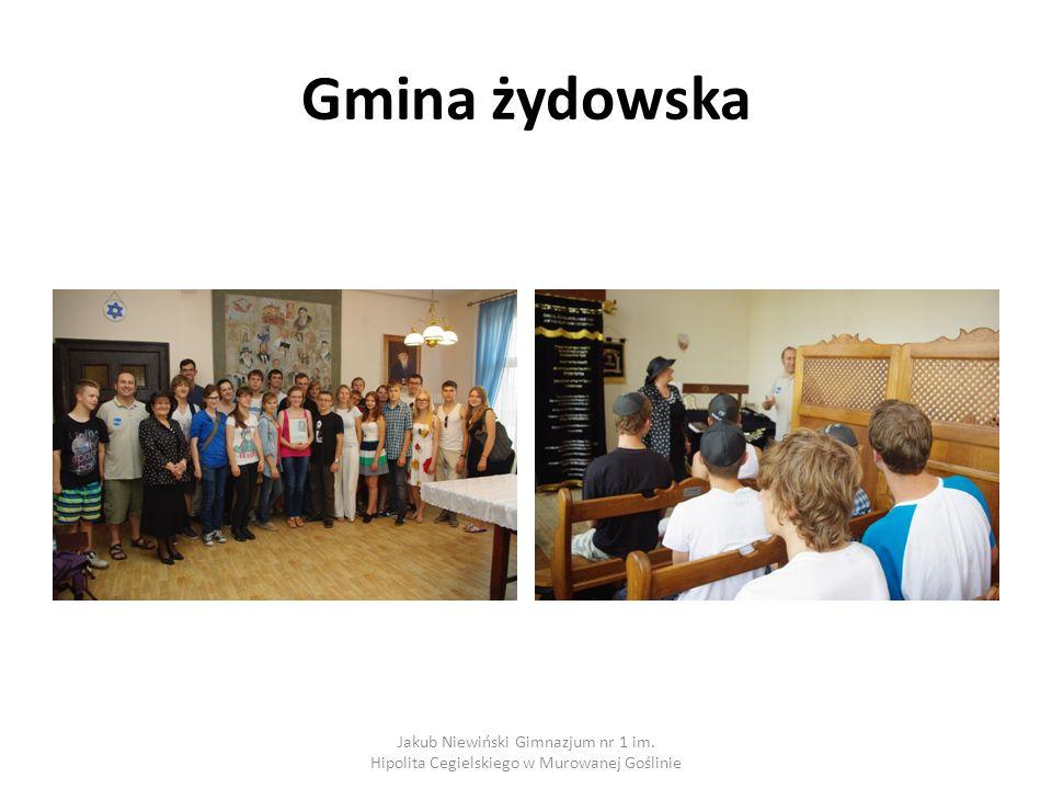 Gmina żydowska Jakub Niewiński Gimnazjum nr 1 im. Hipolita Cegielskiego w Murowanej Goślinie