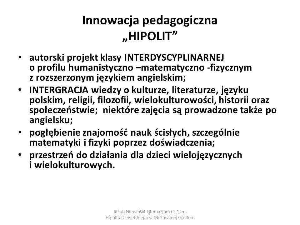 """Innowacja pedagogiczna """"HIPOLIT"""