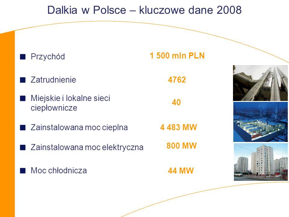 Dalkia w Polsce – kluczowe dane 2008