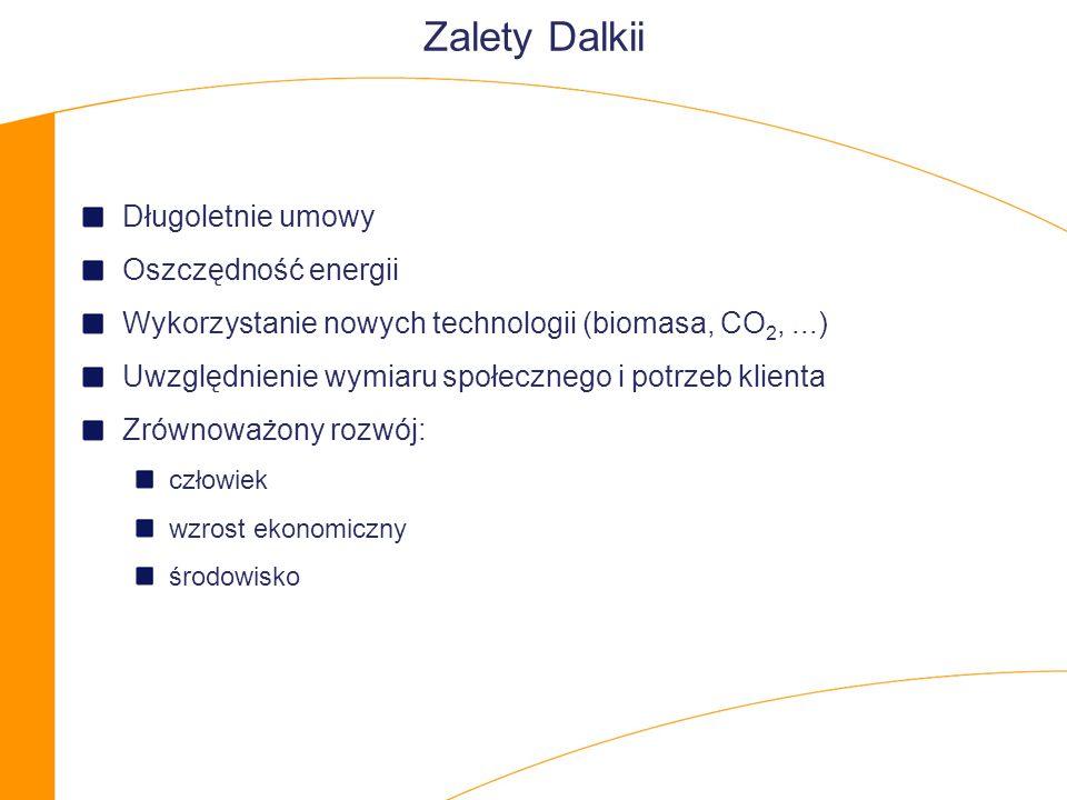 Zalety Dalkii Długoletnie umowy Oszczędność energii