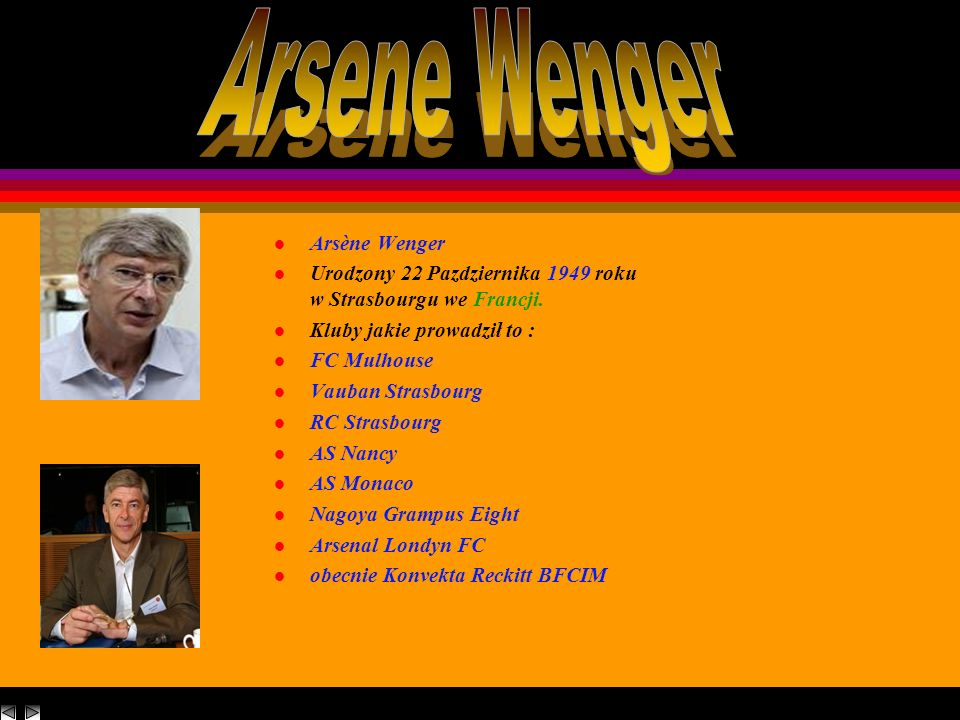 Arsene Wenger Arsène Wenger