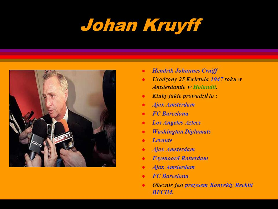 Johan Kruyff Hendrik Johannes Cruiff