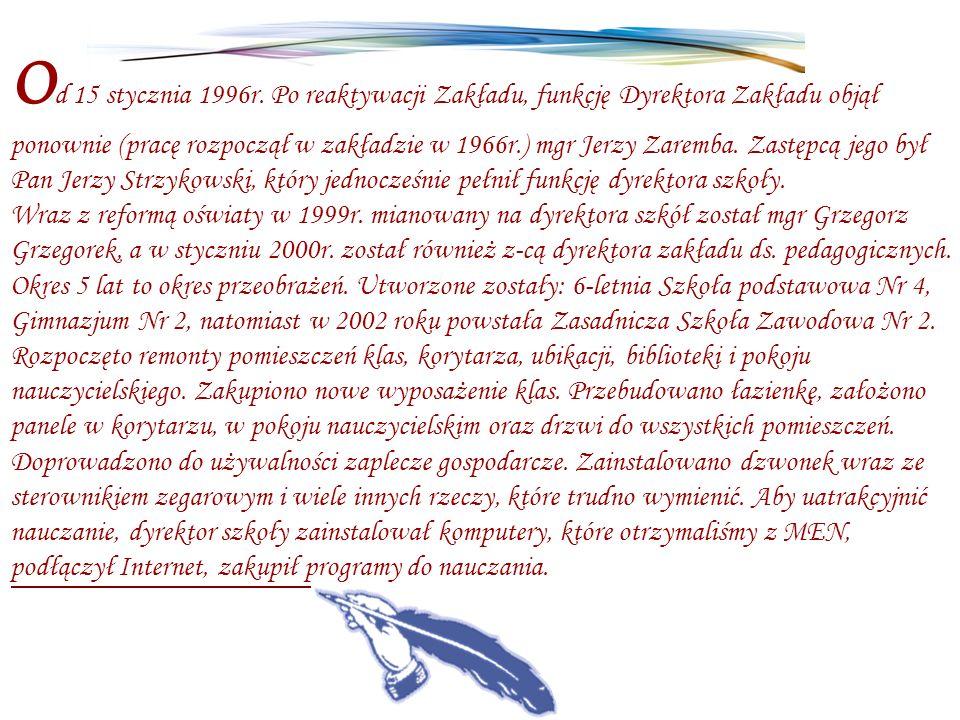 Od 15 stycznia 1996r.