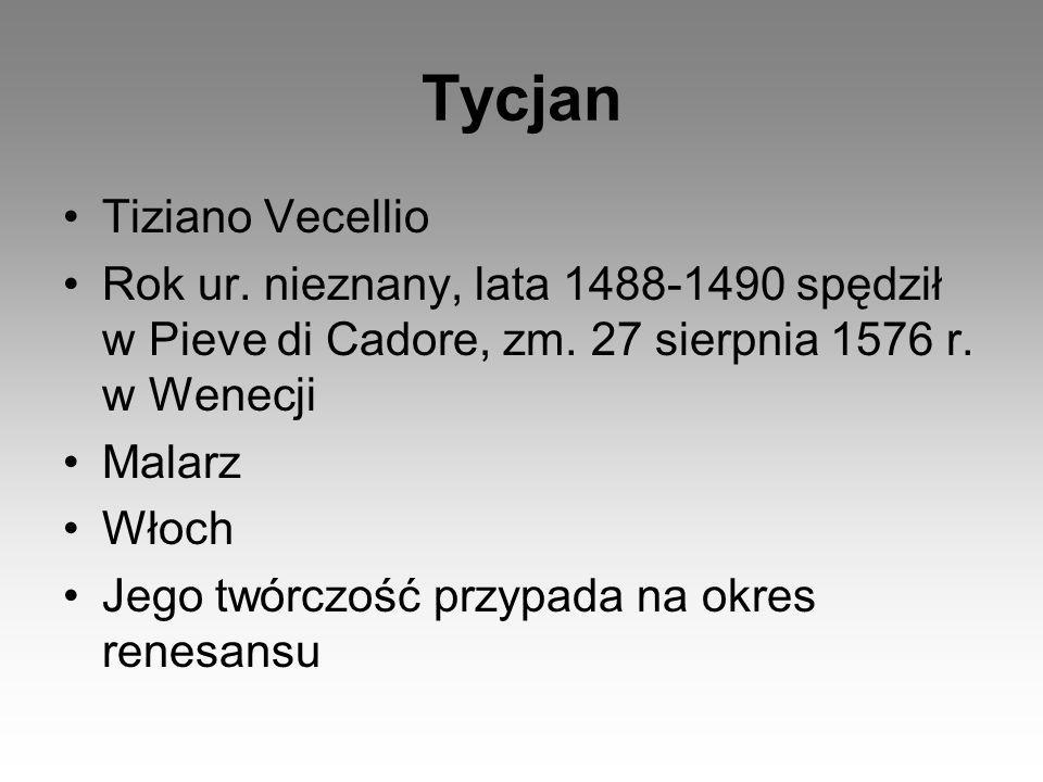 Tycjan Tiziano Vecellio