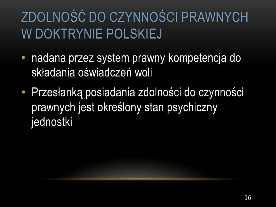 Zdolność do czynności prawnych w doktrynie polskiej