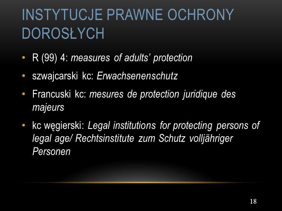 Instytucje prawne ochrony dorosłych