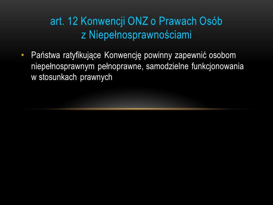 art. 12 Konwencji ONZ o Prawach Osób z Niepełnosprawnościami