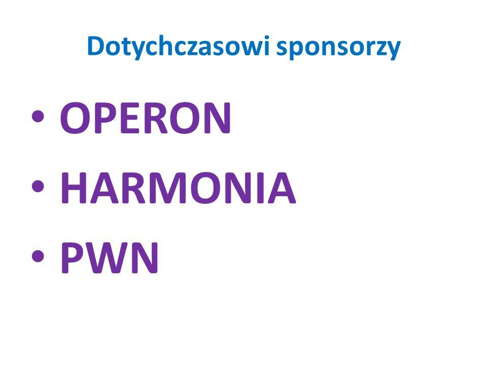 Dotychczasowi sponsorzy
