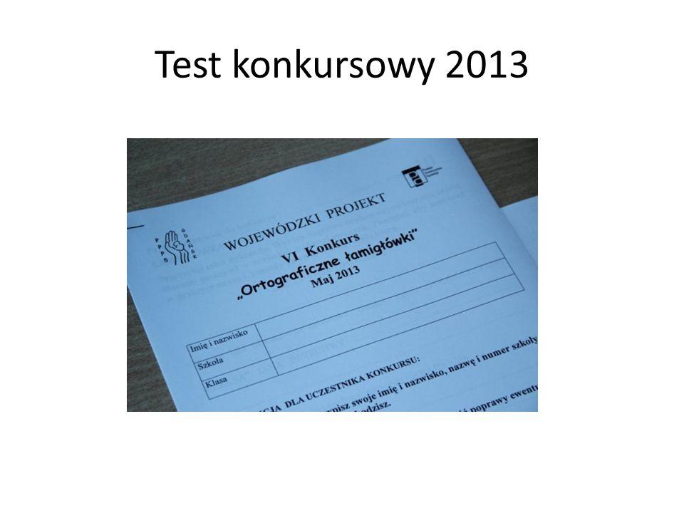 Test konkursowy 2013