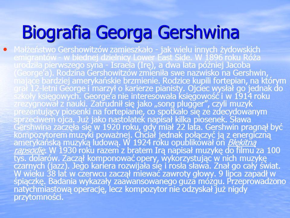Biografia Georga Gershwina