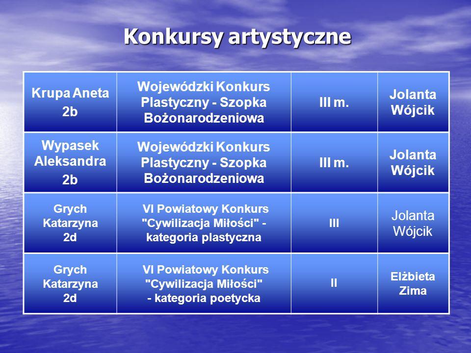 Konkursy artystyczne Krupa Aneta. 2b. Wojewódzki Konkurs Plastyczny - Szopka Bożonarodzeniowa. III m.
