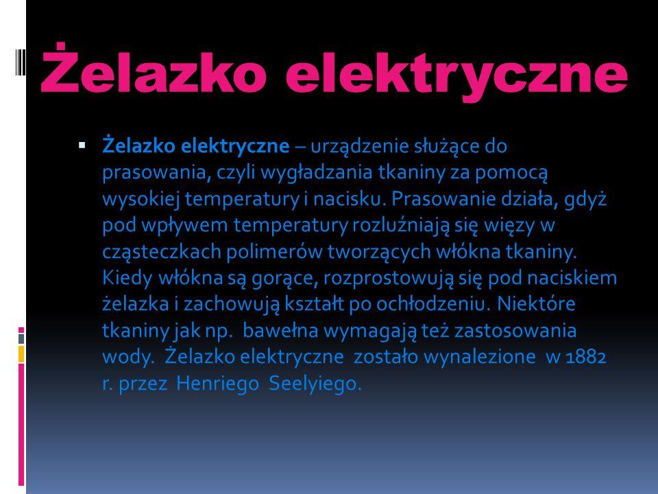 Żelazko elektryczne