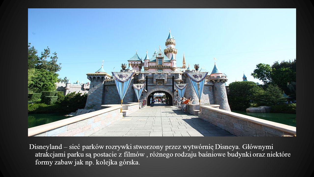Disneyland – sieć parków rozrywki stworzony przez wytwórnię Disneya