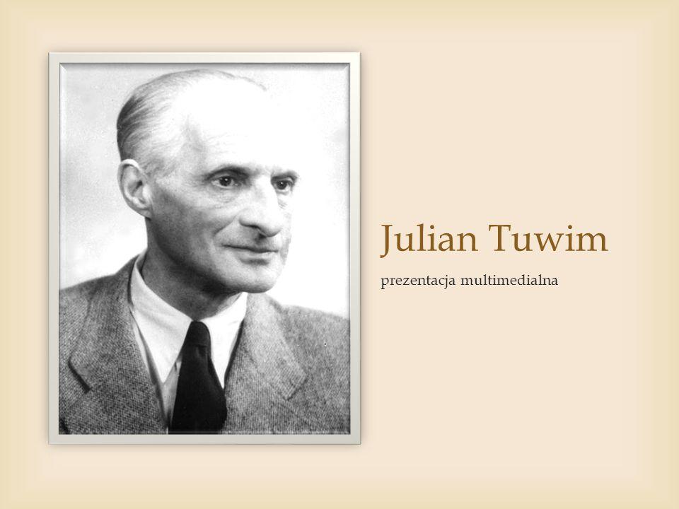 Julian Tuwim prezentacja multimedialna