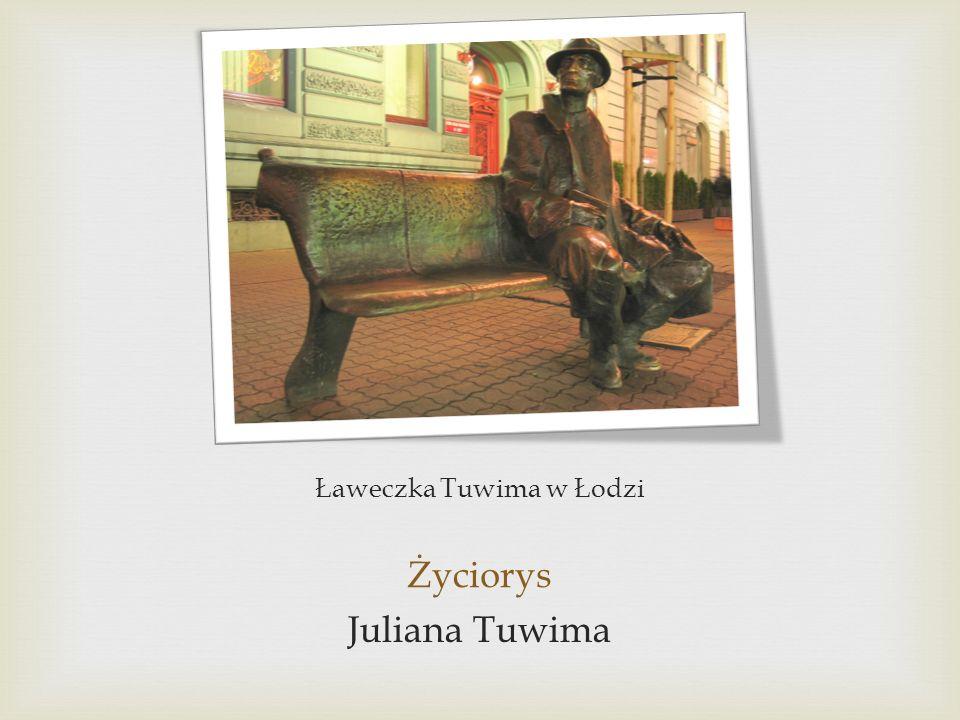 Ławeczka Tuwima w Łodzi