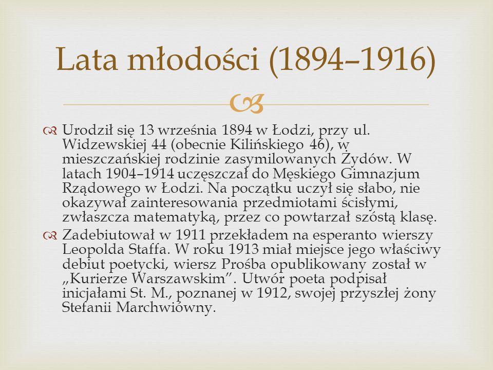 Lata młodości (1894–1916)