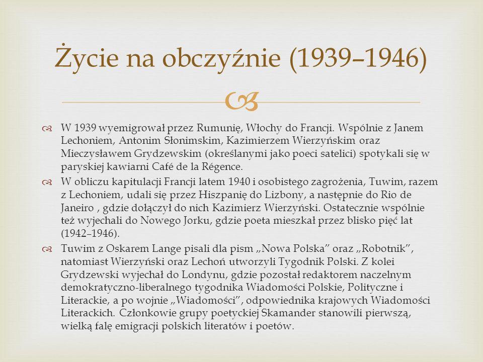 Życie na obczyźnie (1939–1946)
