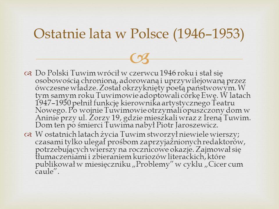 Ostatnie lata w Polsce (1946–1953)