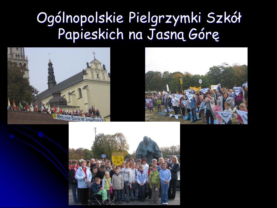 Ogólnopolskie Pielgrzymki Szkół Papieskich na Jasną Górę