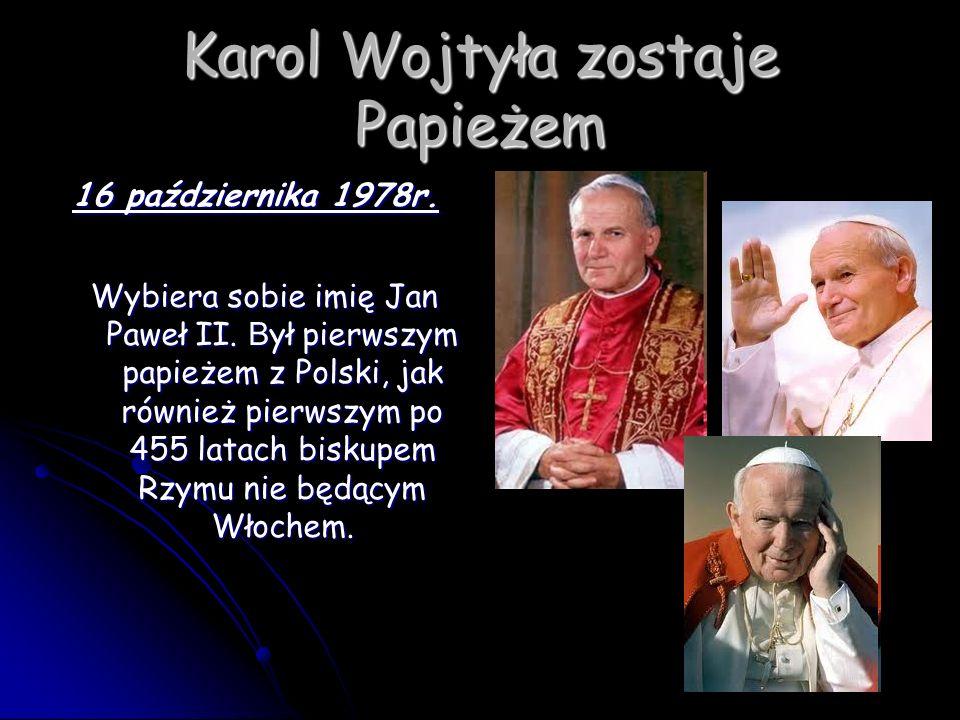 Karol Wojtyła zostaje Papieżem
