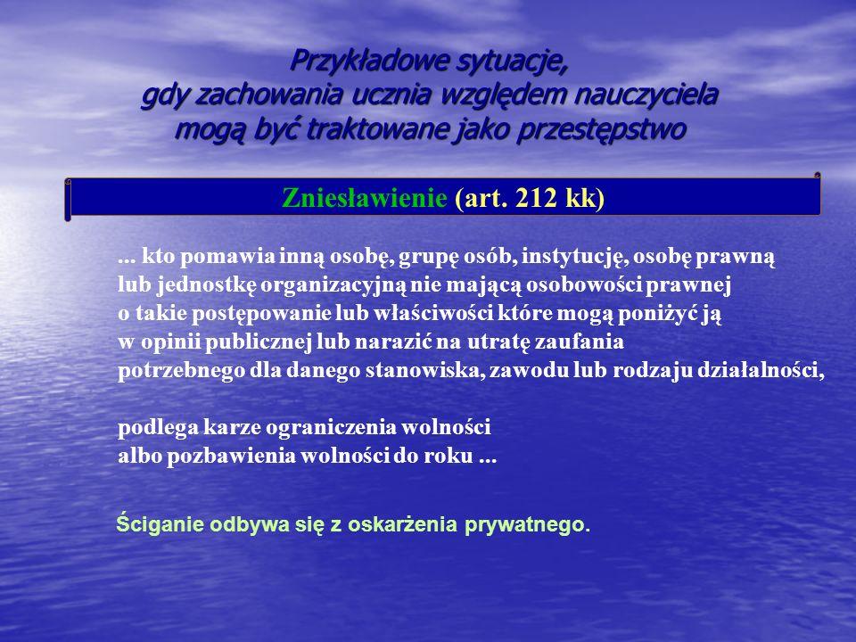 Zniesławienie (art. 212 kk)