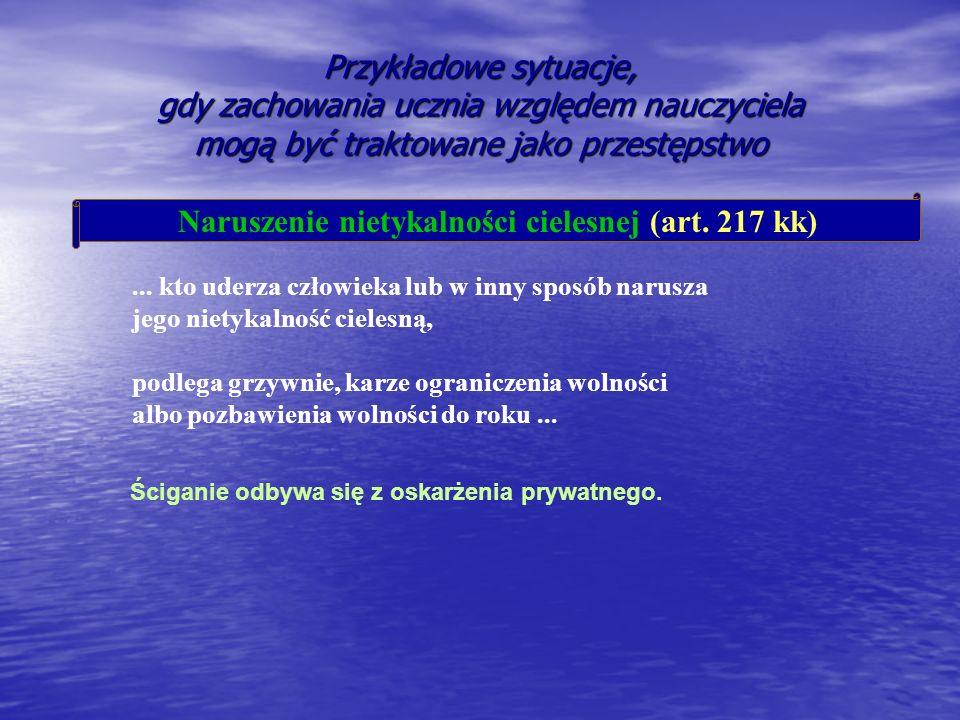 Naruszenie nietykalności cielesnej (art. 217 kk)